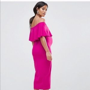 c7f33b84296 ASOS Dresses - ASOS hot pink maternity dress